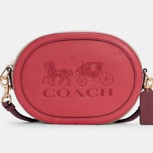 Coach Camera Bag In Colorblock With Horse And Carriage NWT